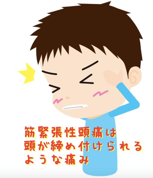 筋緊張性頭痛は頭が締め付けられるような痛み