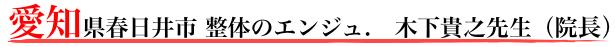 愛知県春日井市 整体のエンジュ. 木下貴之先生(院長)