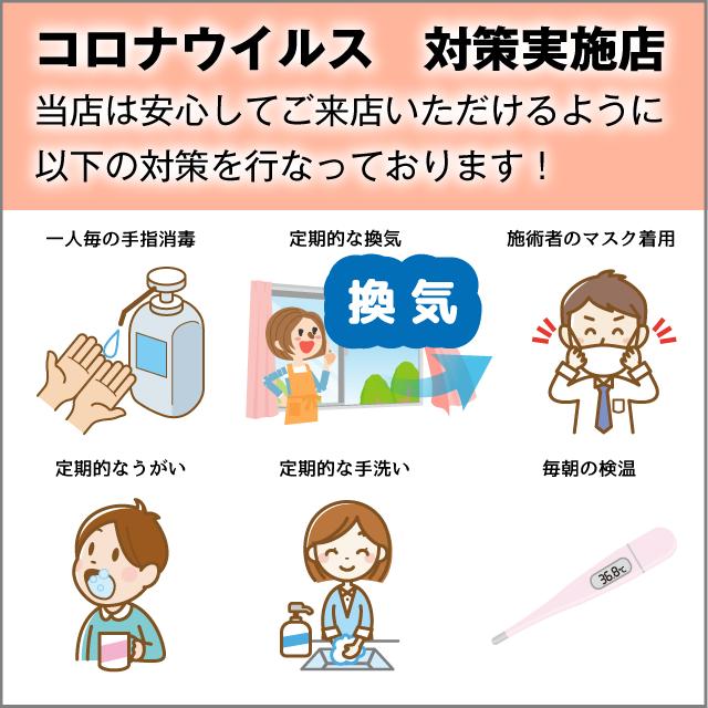 コロナウイルス対策実施店